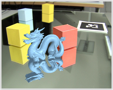 Physically-based depth of field in augmented reality